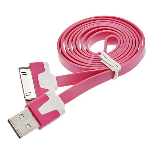 USB синхронизации данных зарядный плоский шнур кабель для iPhone 4/4S (30pin) Lightinthebox 128.000