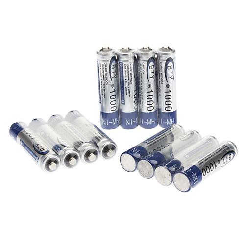 BTY Home Ni-MH AAA 1000mAh 1.2 V Набор аккумуляторных батареек (12 шт.) Lightinthebox 298.000