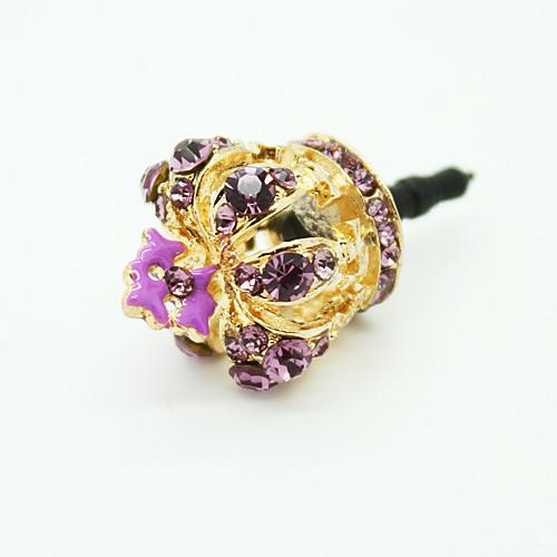 Заглушка для гнезда для наушников в форме золотой короны со стразами, защищает от пыли (цвет случайный) Lightinthebox 171.000