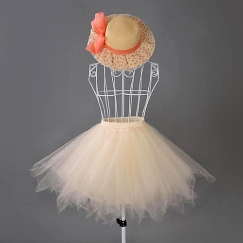 Летняя Seaside Короткие органзы Sweet Lolita Petticoat / юбка (Талия: 72см, длина: 50 см) Lightinthebox 773.000