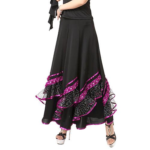 Бального танцевальная одежда вискоза современного танца юбка с лентой больше цветов