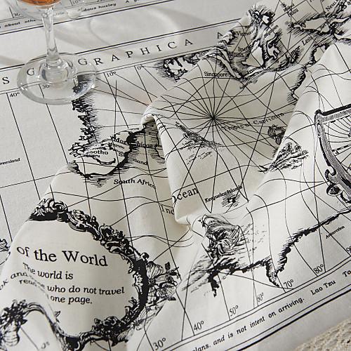 Карта мира Стиль Скатерть Lightinthebox 1632.000