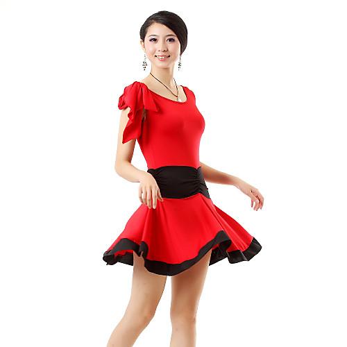 Танцевальная одежда вискоза латинских танцев Топ техники и юбка большего количества цветов (больше цветов) Lightinthebox 979.000