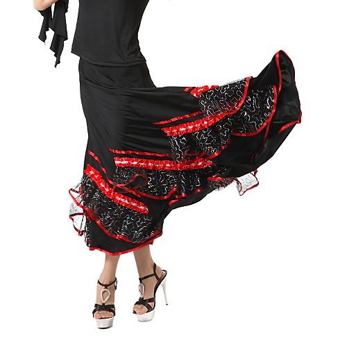 Бального танцевальная одежда вискоза современного танца юбка с лентой больше цветов Lightinthebox 2861.000