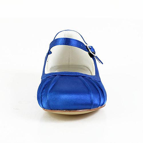 Симпатичные атласные плоский каблук закрытыми пальцами с пряжкой Квартиры Цветочная обувь для девочек (другие цвета) Lightinthebox 1288.000