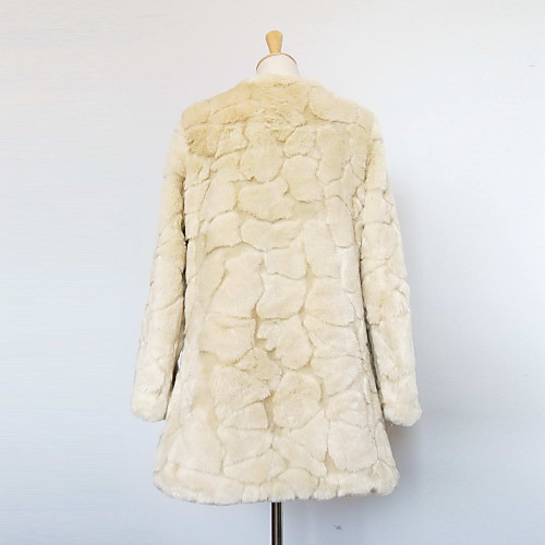 С длинным рукавом воротника из искусственного меха Повседневный / Партия пальто (больше цветов) Lightinthebox 1739.000