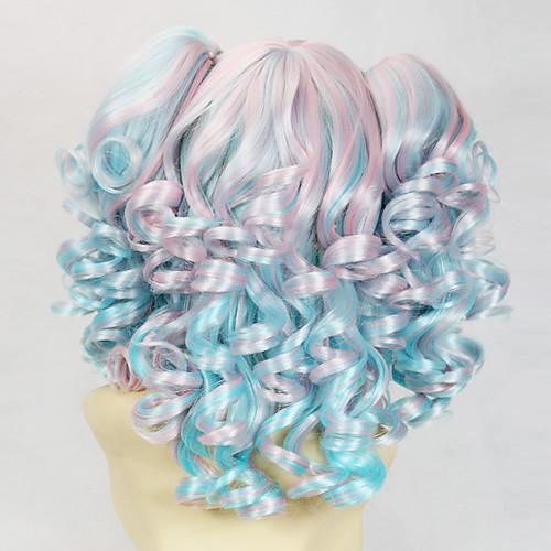 Голубой и розовый Вьющиеся Косички 45см Сладкая Лолита парик Lightinthebox 1718.000