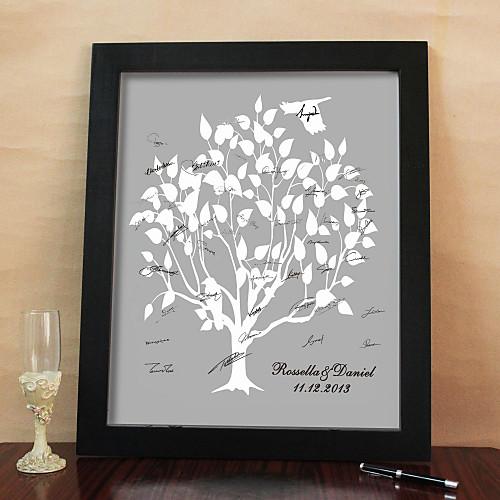персонализированные кадров холст Подпись - Дерево Pattern (рама входит в комплект) Lightinthebox 1449.000