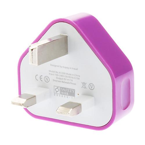 Три-контактный разъем адаптера для мобильных телефонов (разные цвета, вилка Великобритании, 5V 1A) Lightinthebox 118.000