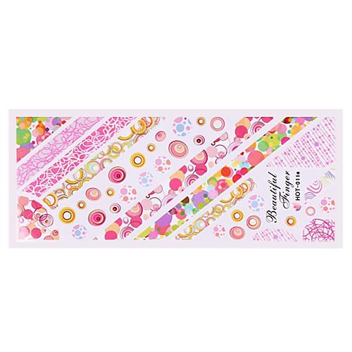 5PCS вода трансферная печать стикеры ногтя Горячие серии Cute Lightinthebox 128.000