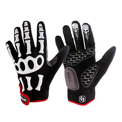 Spakct моды предназначены дышащий нейлон молния ленты полный палец перчатки-скелет Lightinthebox 644.000