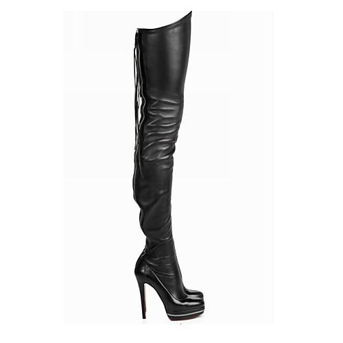 Сексуальная искусственной кожи стилет каблук над коленом сапоги партии / вечерние туфли Lightinthebox 4296.000
