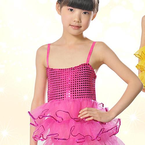 Производительность танцевальная одежда спандекс Довольно с тюлем платье Балет Танец Блестки для детей (другие цвета) Lightinthebox 644.000