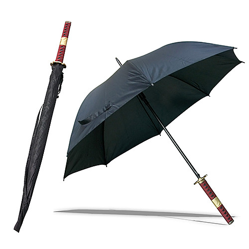 Roronoa Зоро Три Меч Стиль Sandai Kitetsu Samurai Sword Umbrella (черный) Lightinthebox 1288.000