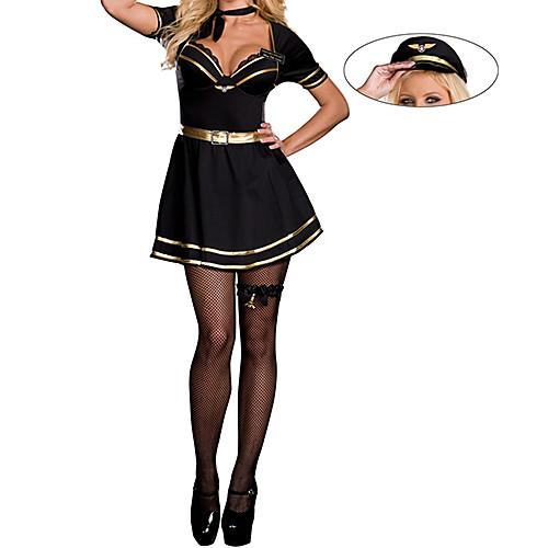 Sexy Girl черное платье Стюардесса Костюм Lightinthebox 1288.000