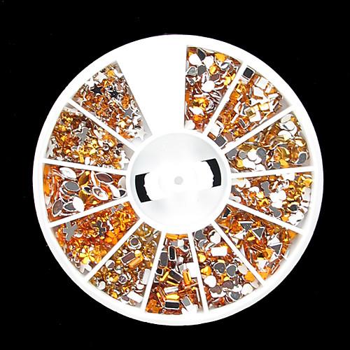 12-золотого цвета акриловых ногтей искусство украшения Lightinthebox 154.000