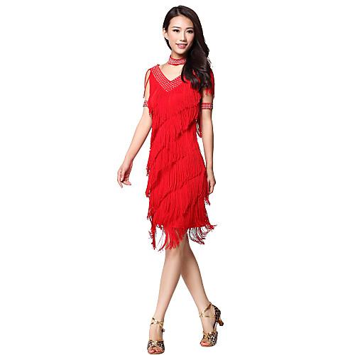 Платье с бахромой и стразами для исполнения латинского танца (цвета в ассортименте) Lightinthebox 858.000