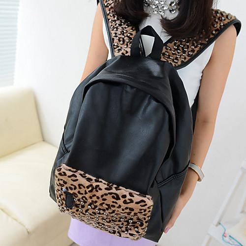 Модный рюкзак с леопардовым принтом