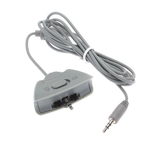 Двойной гарнитура наушники микрофон Конвертер кабель для Xbox 360
