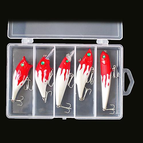 Жесткий Bait Minnow / Поппера / VIB / Crank / карандаш рыболовную приманку множество (5шт) Lightinthebox 429.000
