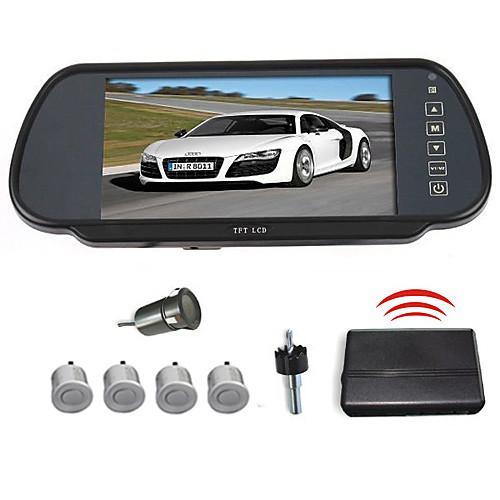 Автомобильное зеркало заднего вида 7-дюймовый ЖК-экран и 4 беспроводные датчики парковки (Звуковой сигнал) Lightinthebox 5113.000