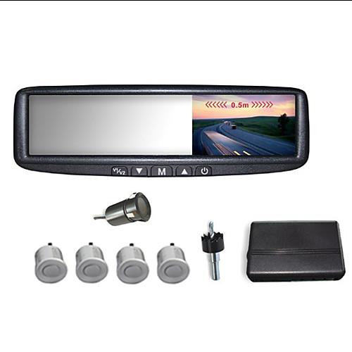 Автомобильное зеркало заднего вида с 4,3-дюймовым ЖК-экраном и 4 парковочные датчики (Звуковой сигнал) Lightinthebox 3695.000