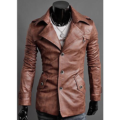 Пиджак мужской однобортный из кожзама Lightinthebox 2653.000
