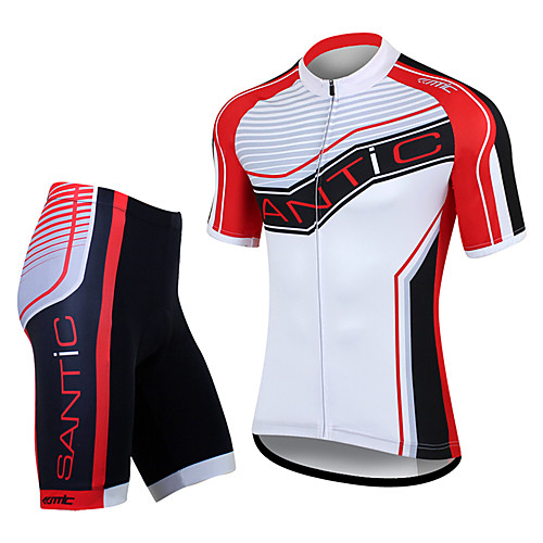 Santic мужская 100% полиэстер MTB Велоспорт костюмы (футболка  брюки) Lightinthebox 1718.000