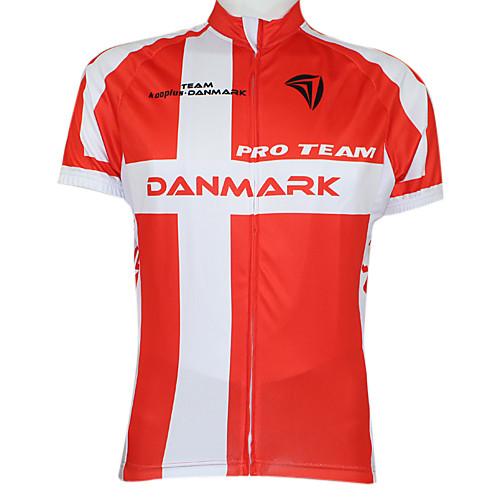 Kooplus2013 Чемпионат Дании Джерси 100% полиэстер Wicking Волокна Велоспорт футболку с отражающей лентой Lightinthebox 1288.000
