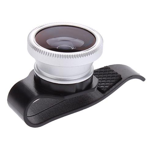 3-в-1 объектив рыбий глаз с радиусом поворота на 180 °, широкоугольный объектив с 0.67м и макро-объектив на клипе для iPhone 5 и других Lightinthebox 257.000
