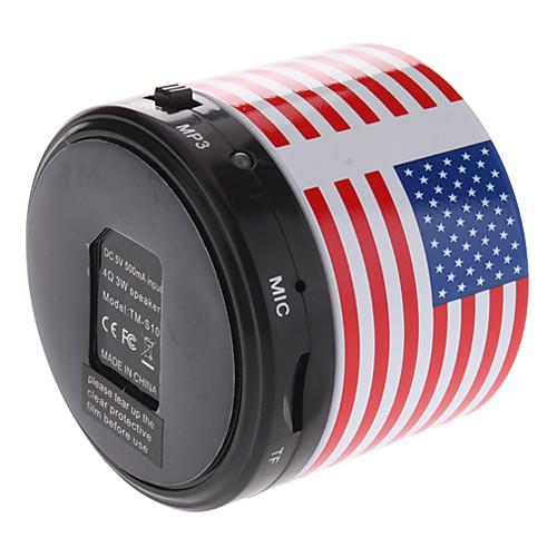 Мини динамик Bluetooth S10 с принтом американского флага с TF портом для телефона/ноутбука/планшета PC Lightinthebox 644.000