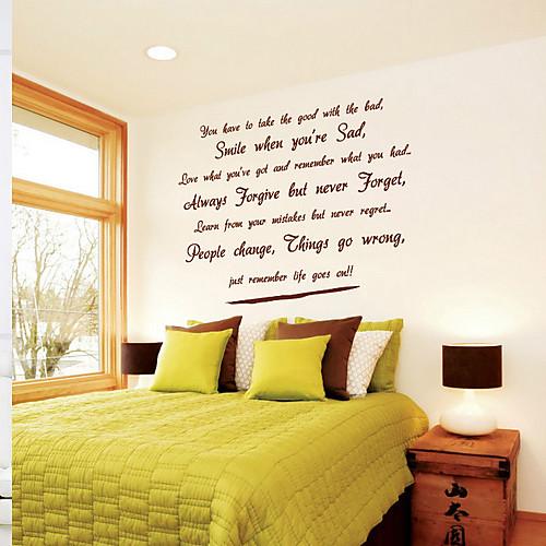 Наклейка на стену с текстом о жизни в стихотворной форме (англ.) Lightinthebox 1073.000