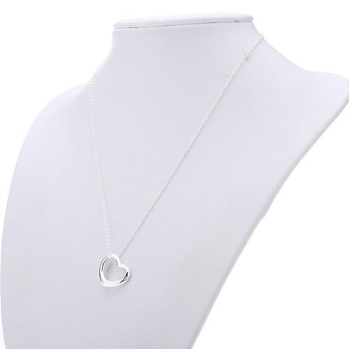 Сердце 925 серебряных украшений ожерелье серьги Костюм