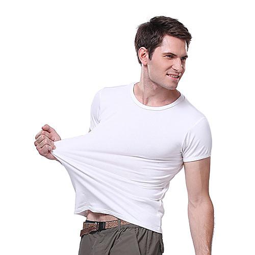 langzuyoudang мужская с коротким рукавом высокого эластичные спортивные футболки эластан хлопок Lightinthebox 429.000