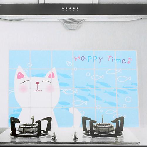 90x60cm мультфильм Cat Pattern маслостойкой Водонепроницаемый Стикер стены кухни Lightinthebox 128.000