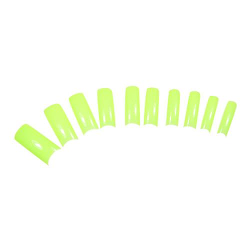 Светло-зеленый 100PCS Pure Color французский Полный Советы ногтей крышки Lightinthebox 180.000