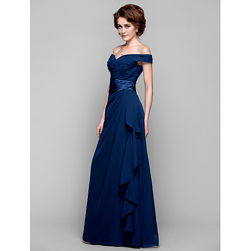 Платье для дам из шифона со спущенными плечами, длина до пола, силуэт колонна Lightinthebox 4253.000