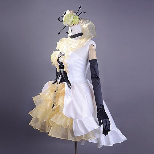 косплей Акита Неру белые элегантные атласные платья Женский костюм Lightinthebox 4726.000