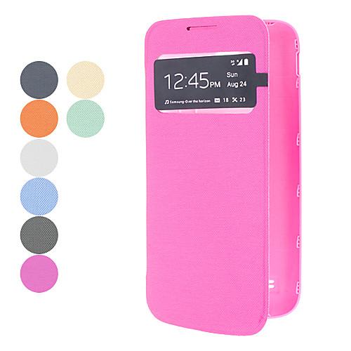 Чехол-флип однотонный из кожзама с окошком для экрана для Samsung Galaxy s4 mini i9190 (цвета в ассортименте) Lightinthebox 143.000
