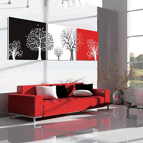 Натянутым холстом искусств Ботанический Art Decor Дерево Набор из 3 Lightinthebox 2577.000