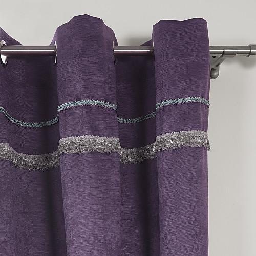 (Две панели раструб сверху) фиолетовый тиснением современному Blackout Curtain Lightinthebox 2148.000