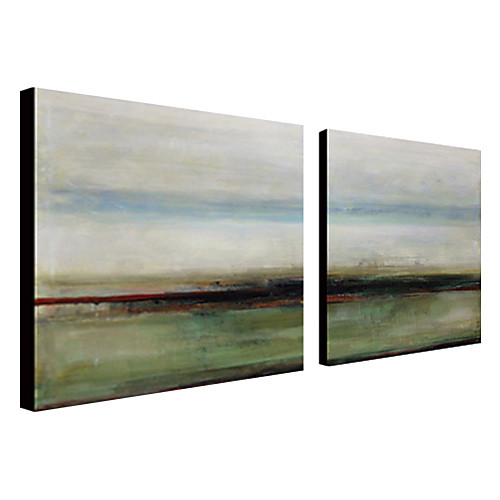 Ручная роспись абстрактные картины маслом с растянутыми кадр Набор из 2-1308 AB0741 Lightinthebox 3437.000