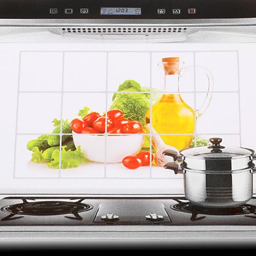 75x45cm Pattern Овощи маслостойкой Водонепроницаемый Стикер стены кухни Lightinthebox 128.000