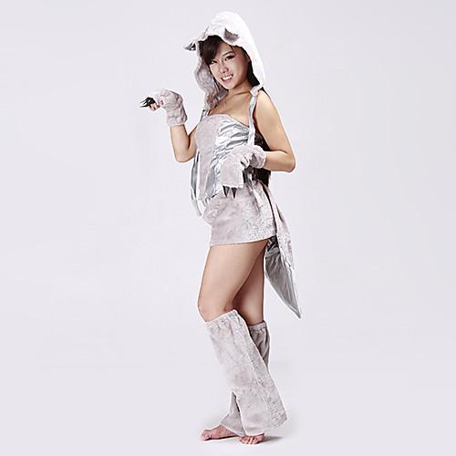 Симпатичные меховые Cat женщин Хеллоуин костюм (5 шт) Lightinthebox 1718.000