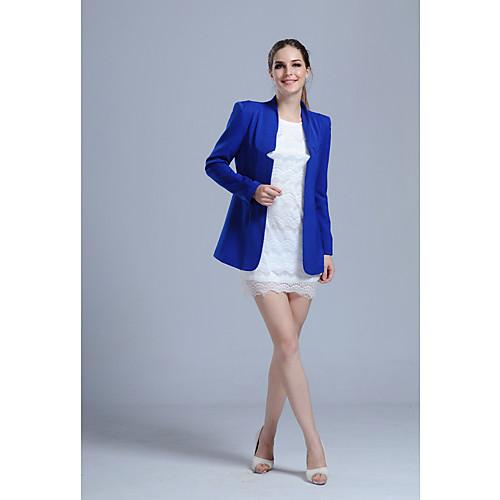 ACOM NO.9 женские осенние длинным рукавом Пиджаки Синий Lightinthebox 3005.000