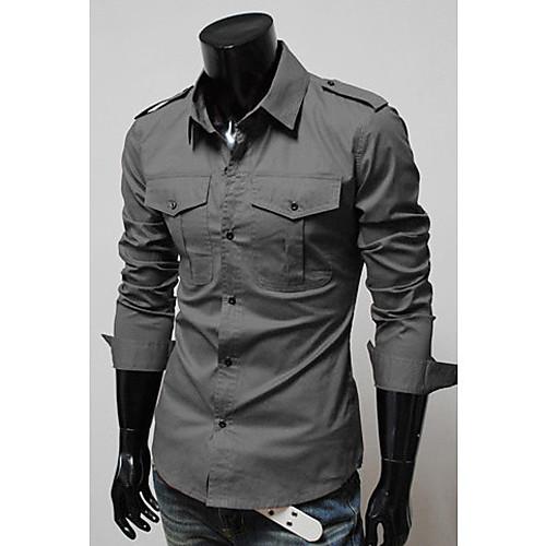 Epaulette двойной карман рубашка Slim Lightinthebox 949.000