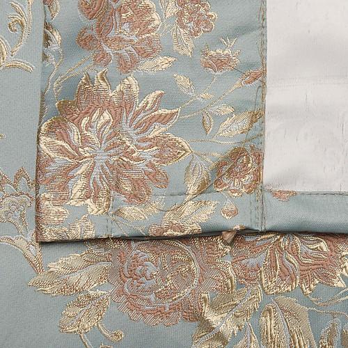Шторы солнцезащитные голубого цвета с жаккардовым цветочным узором (две панели) Lightinthebox 5156.000