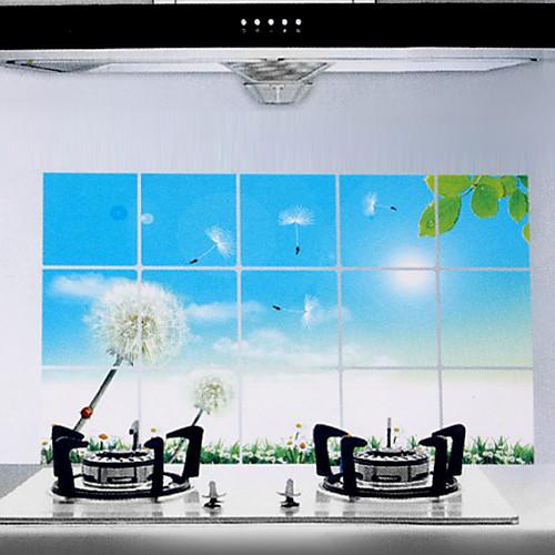 75x45cm Одуванчик шаблона Нефть-Proof Водонепроницаемый Стикер стены кухни Lightinthebox 85.000