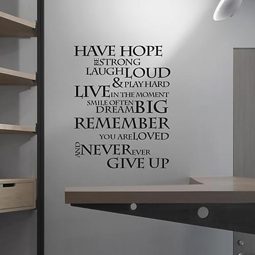 Есть надежда Вдохновение стикер стены Lightinthebox 1288.000