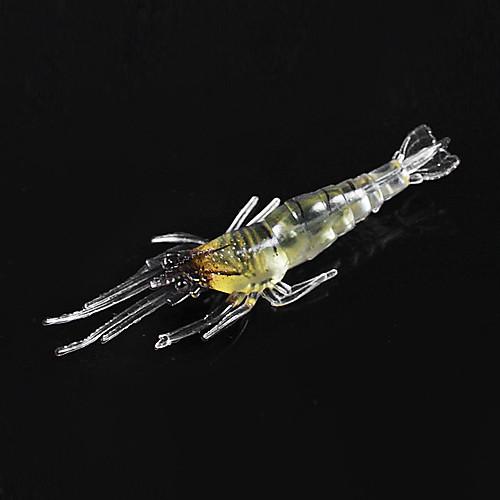 Мягкие приманки 50MM 1G Световой Креветки рыбалки приманки Локализации (10шт) Lightinthebox 214.000